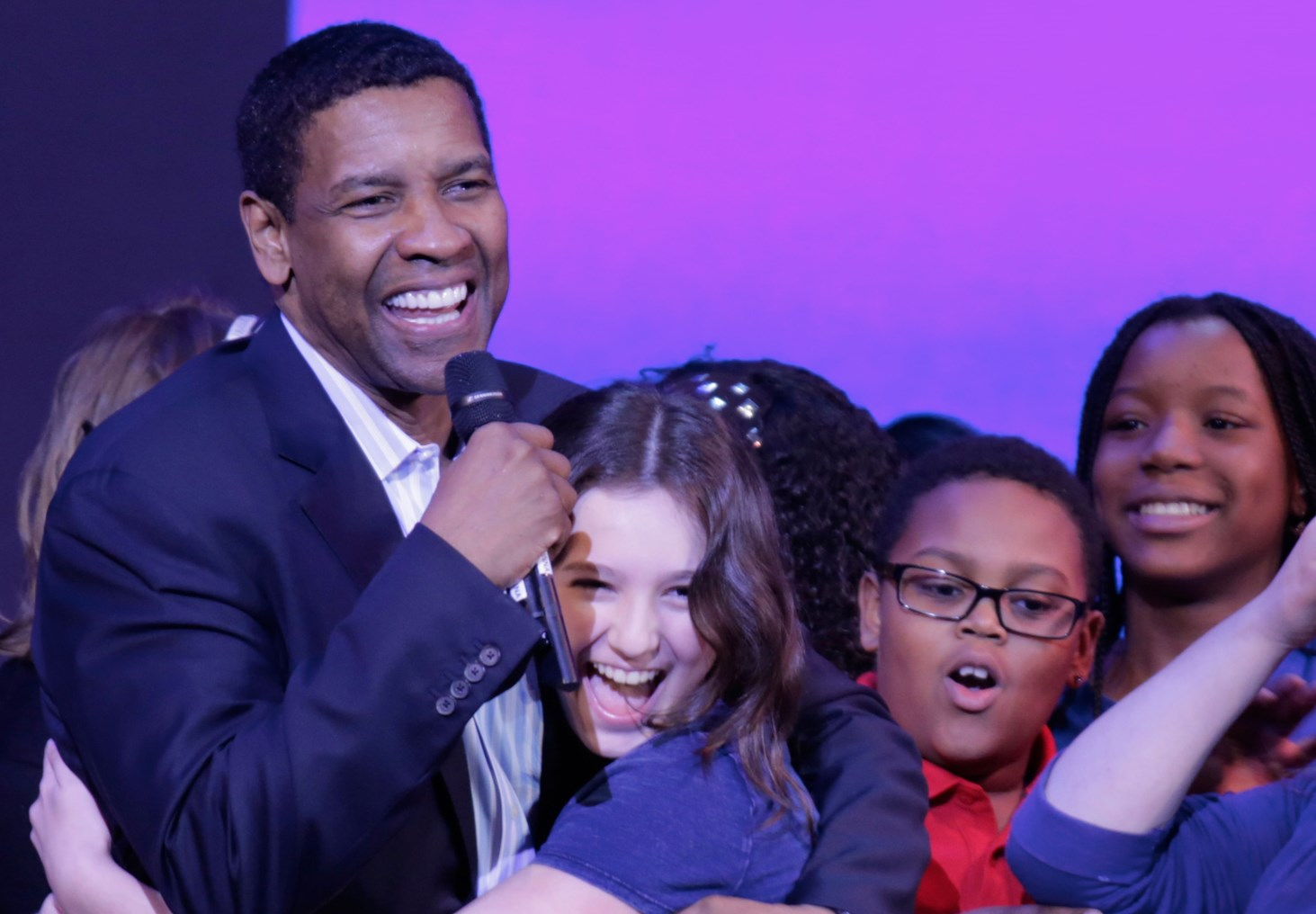 "Denzel Washington Hosts ""Broadway Junior"" Event"