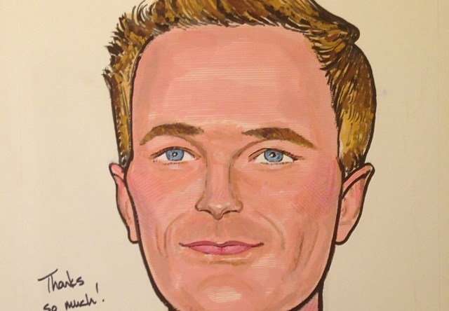 That's Neil Patrick Harris on Sardi's Wall of Fame!