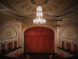 Barrymore Theatre Interior, Curtain, Proscenium and Boxes.jpg