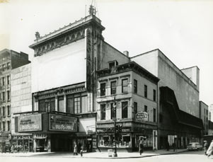 Broadway Theatre Exterior, Broadway and 53rd Street, Les Ballets de Paris, 1954.jpg