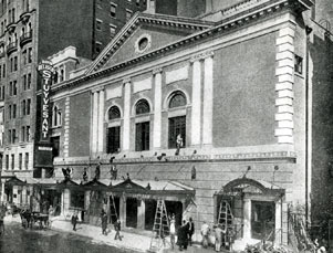 Belasco (formerly Stuyvesant) Theatre Exterior, 1907.jpg