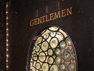 Belasco Theatre Green bottle glass window to Men's Room.jpg
