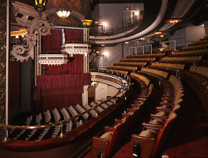 Belasco Theatre Interior, Chandelier, Orchestra and Mezzanine, view from boxes.jpg