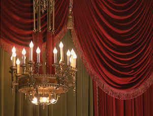 Architectural Detail, Bernard B. Jacobs Theatre Curtain and Chandelier.jpg