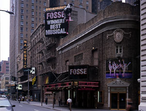 Broadhurst Theatre Exterior on 44th Street, Fosse, 2000.jpg
