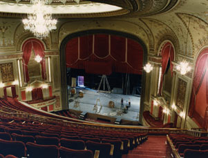 Forrest Theatre Interior, View of Stage and Proscenium from Balcony.jpg