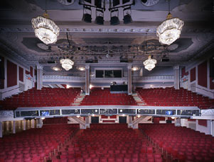 Gerald Schoenfeld Theatre Interior, Stage View of Orchestra and Mezzanine.jpg