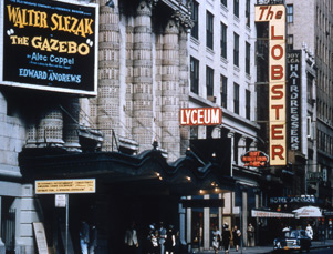 Lyceum Theatre Exterior, The Gazebo, 1958.jpg