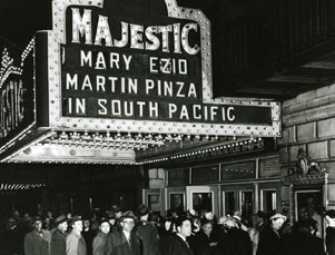 Majestic Theatre Exterior, Mary Martin in South Pacific, 1949-1953.jpg