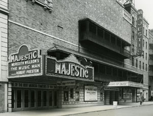 Majestic Theatre Exterior, The Music Man, 1958.jpg