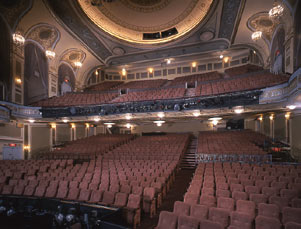 Majestic Theatre Interior, Stage View of Orchestra and Mezzanine.jpg