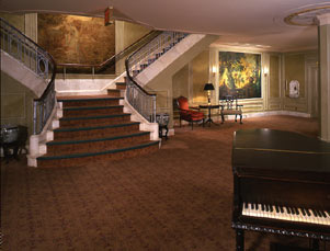 Music Box Theatre Lower Lobby, staircase & piano.jpg