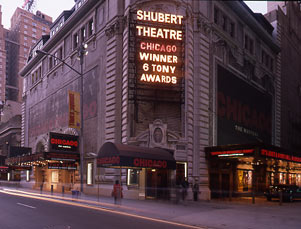 Shubert Theatre Exterior, Chicago, 2000.jpg