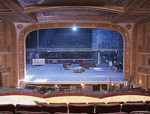 winter garden during restoration stage and prosceniumjpg - Winter Garden Theater Nyc
