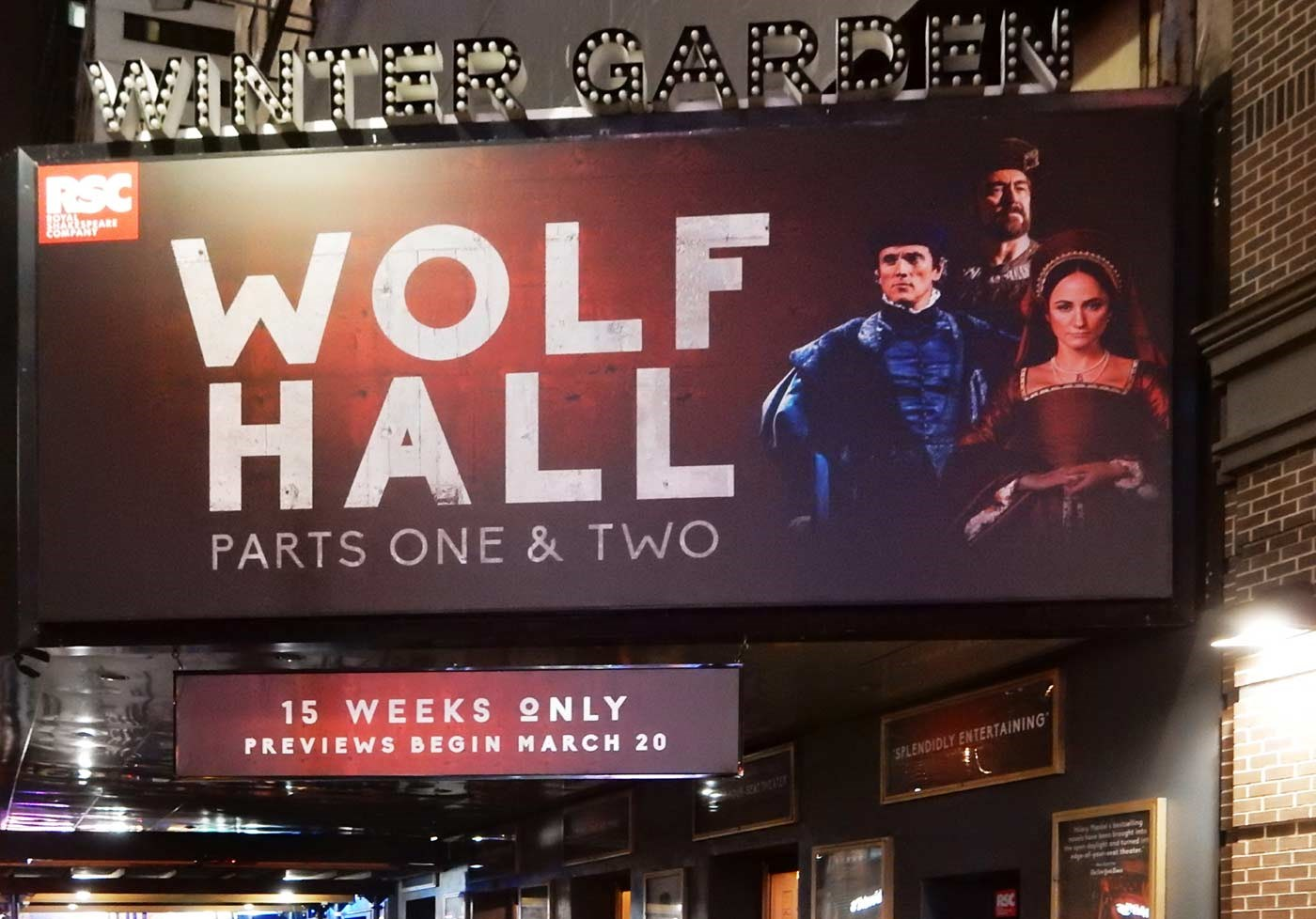 'Wolf Hall Parts One & Two' at the Winter Garden Theatre