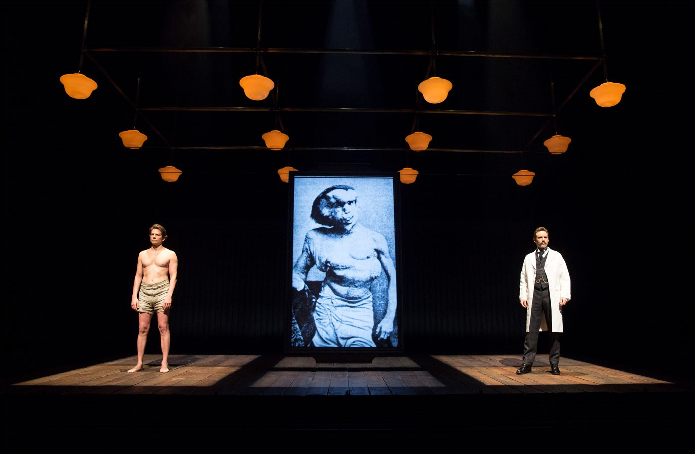 Bradley Cooper on Broadway in<br>'The Elephant Man'
