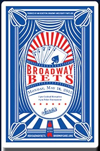 Broadway Bets! A new benefit Poker Tournament