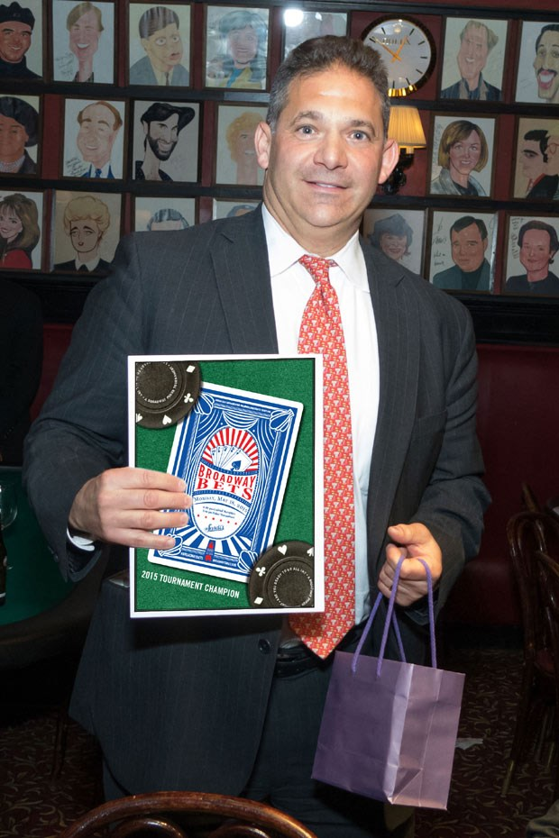 Shubert's Bill Paness: Broadway Cares Poker Tournament Champ