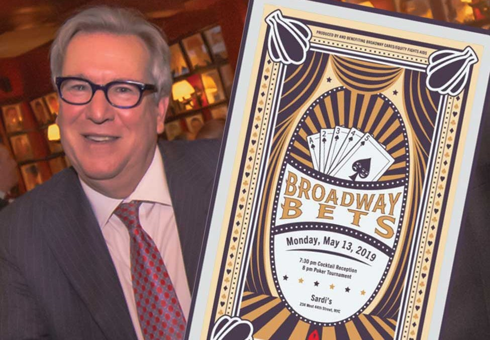 Shubert COO Elliot Greene Wins BROADWAY BETS Tournament. Record Amount Raised.