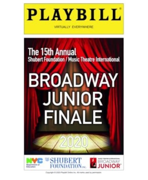 Join us! The 15th Annual Broadway Junior (Virtual) Student Celebration