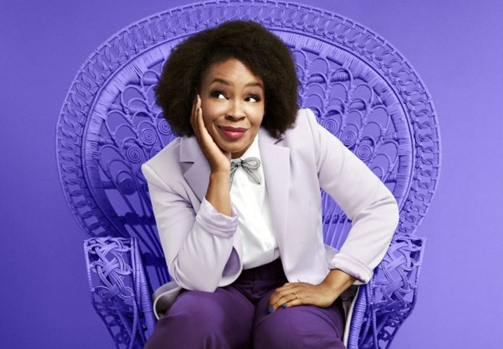 Comedian and host Amber Ruffin. (Photo: Mary Ellen Matthews/Peacock)